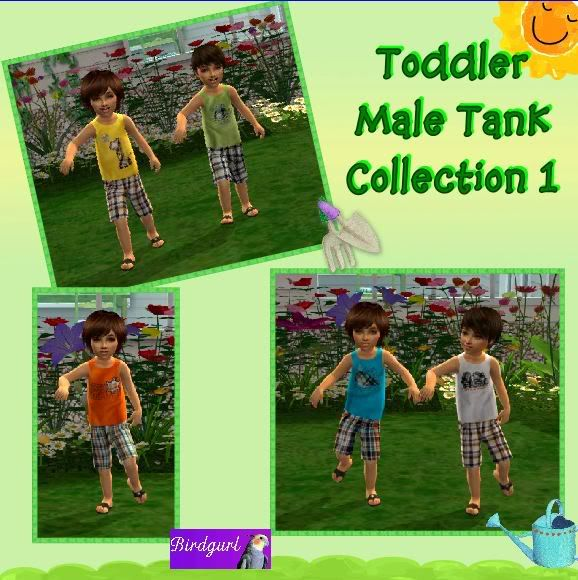 Birdgurl's Sims 2 Creations ToddlerMaleTankCollection1banner