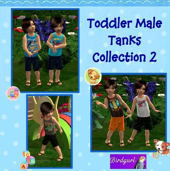 Birdgurl's Sims 2 Creations ToddlerMaleTanksCollection2banner