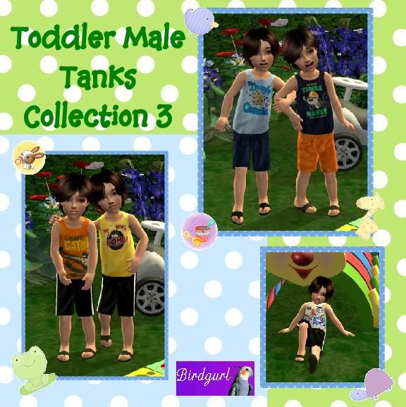 Birdgurl's Sims 2 Creations ToddlerMaleTanksCollection3banner