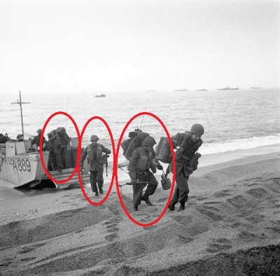 1943 Canadian battle jerkin Infantrymen20of20the207th20Canadian20Infantry20Brigade20coming20ashore20from20a20Landing20Craft20Assault20LCA20during20a20tr_zps3943a718