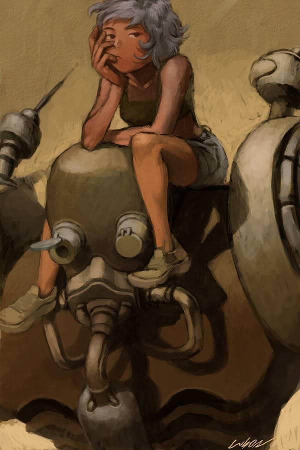 P.E.T. Rp 2 Robot_and_girl_by_cuson