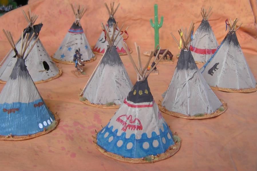 Village indien des plaines Tipis013