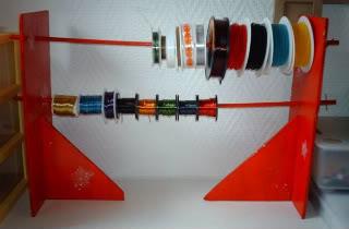 Organizzare fili, gomitoli, nastri e stoffe Portarocchetti