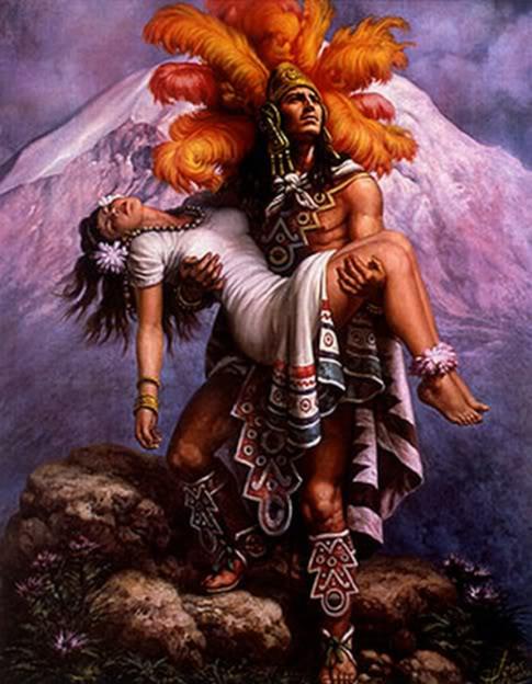 Heroic and Mythical. AztecWarriorandGoddess2