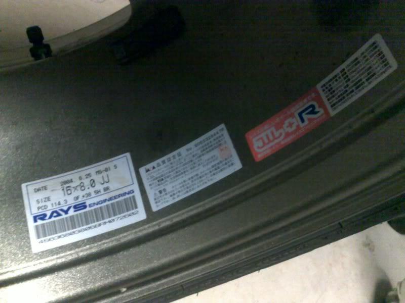 EOI: Rays forged monoblock 16x8 +38 with Bridgestone RE050A 14042010138