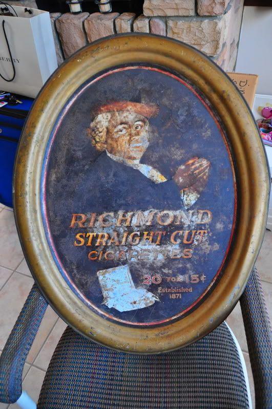 Original Allen & Ginter Richmond Straight Cut Tin Sign DSC_0130