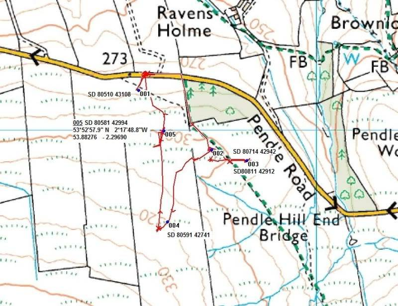 PENDLE HILL, STONEY BANK RINGWORK, SD 806 428 Pendlemap
