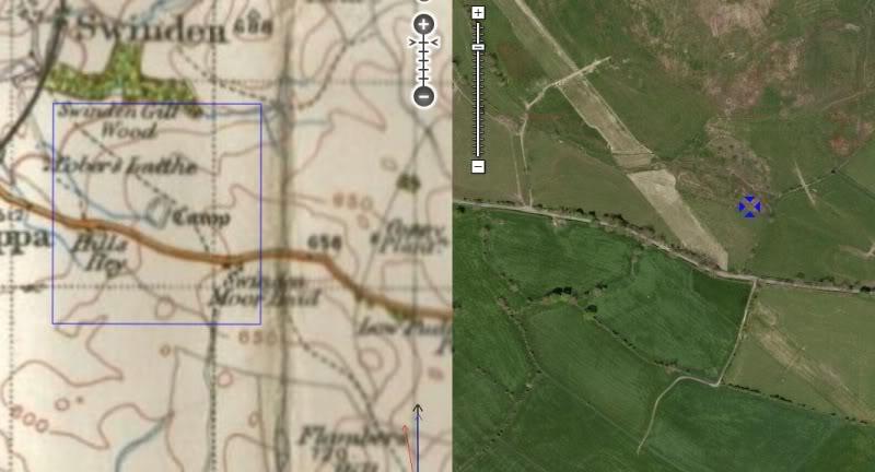 Possible Roman Site in Horton Lancashire SwindenCamp