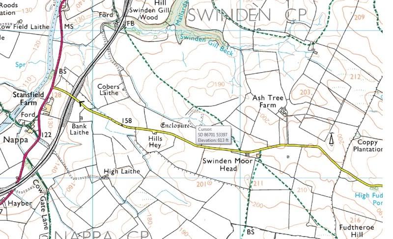 Possible Roman Site in Horton Lancashire SwindenCamp25k