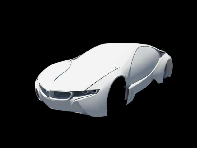 BMW i8 Vision Efficientdynamics prototype WIP using Autodesk Maya 536517_494997193857824_1512641624_n