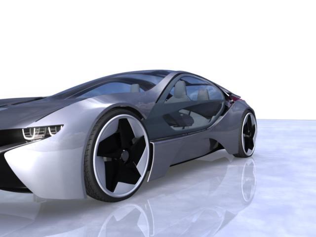 BMW i8 Vision Efficientdynamics prototype WIP using Autodesk Maya 545411_497150790309131_382724567_n