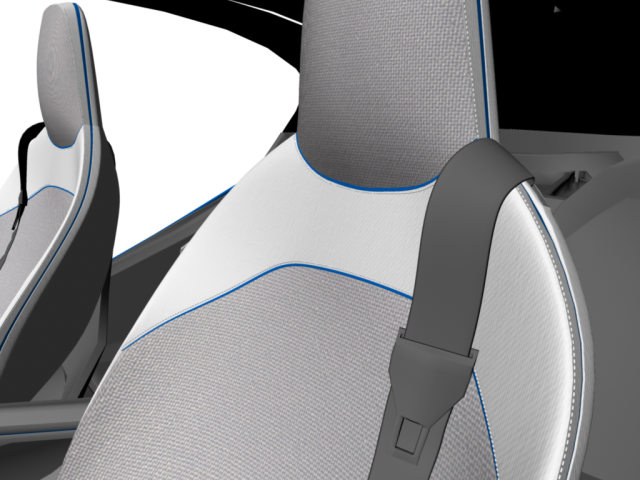 BMW i8 Vision Efficientdynamics prototype WIP using Autodesk Maya Seat-1