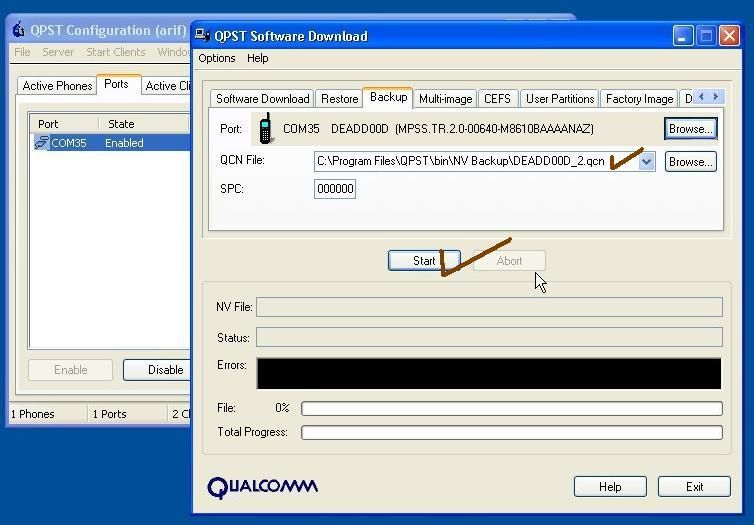 china Qualcomm cpu unknown baseband/imei null/solution Qpst%205