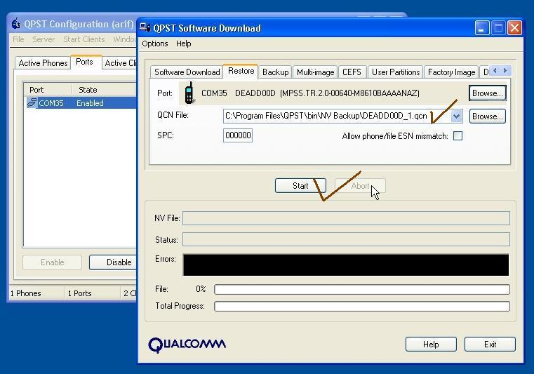 china Qualcomm cpu unknown baseband/imei null/solution Qpst%206