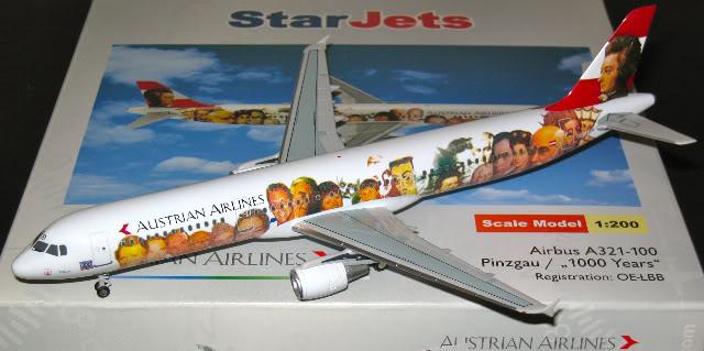 Vand machete avioane civile (multe raritati) A321AustrianSJ