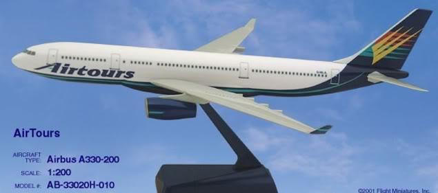Vand machete avioane civile (multe raritati) A330Airtours