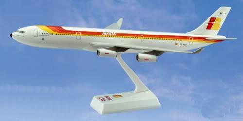 Vand machete avioane civile (multe raritati) A340Iberia