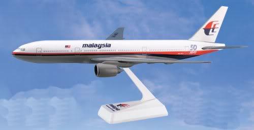 Vand machete avioane civile (multe raritati) B777Malaysia