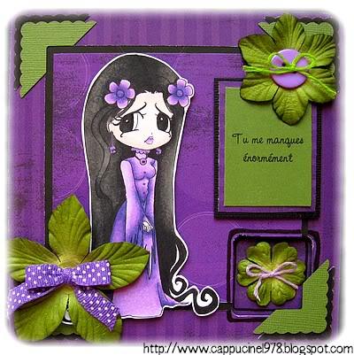 21 avril : 2 petites cartes...toujours aux Copic ;) 37-ChibiSandra