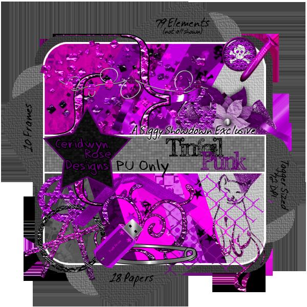CeridwynRose - Tinfoil Punk Scrap Kit Preview
