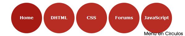 Crear un menu en circulos Menuencirculos