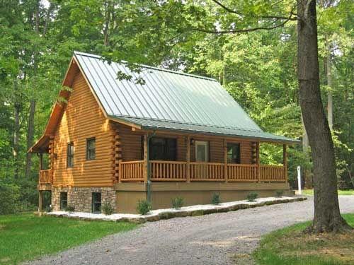 Log Cabins Cozy_pine_log_cabin_rental