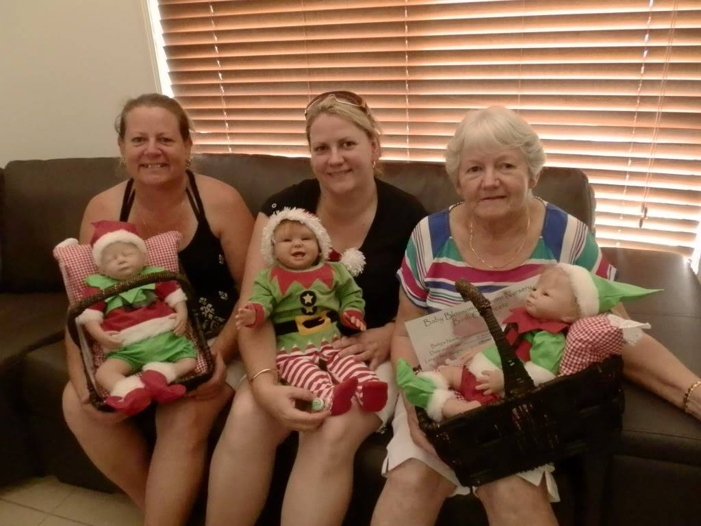My Mum and sisters with their Xmas babies PC040378
