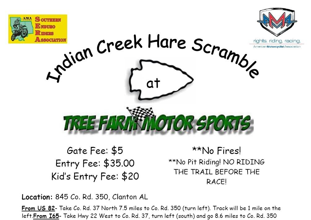 April 25 SERA H.S.  Indian Creek @ The Tree Farm Indiancreek