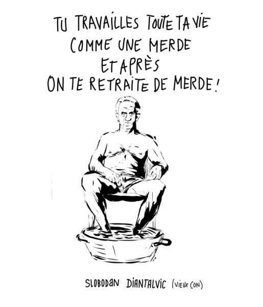 site satirique/ detournement d'image RETRAITE