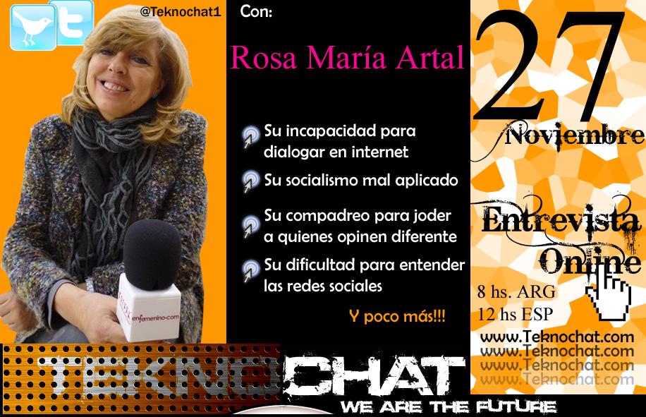 Mini-entrevista a Rosa María Artal Bannerrosamariaartal_zpsea73ad1d