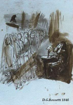 CORRESPONDENCIA PRIVADA ENTRE DANTE GABRIEL ROSSETTI Y JANE BURDEN MORRIS - Página 9 84rossetti-TheRaven-AngelFootfalls-1846