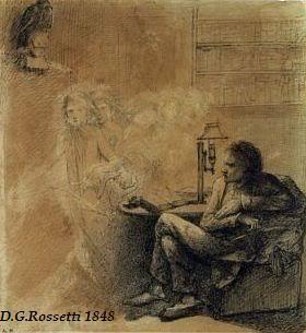 CORRESPONDENCIA PRIVADA ENTRE DANTE GABRIEL ROSSETTI Y JANE BURDEN MORRIS - Página 9 87rossetti-TheRaven-AngelFootfalls-1848