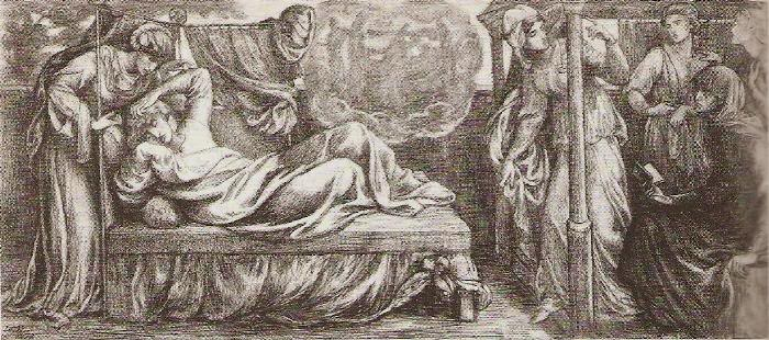 CORRESPONDENCIA PRIVADA ENTRE DANTE GABRIEL ROSSETTI Y JANE BURDEN MORRIS - Página 4 128PredellaDantesDream001