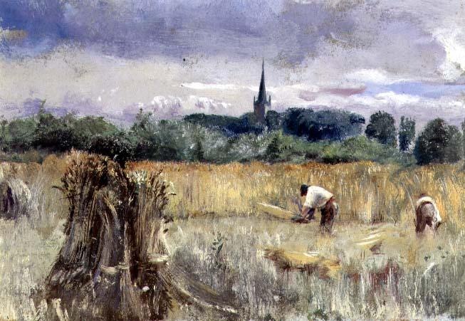 Biografia y Obras de los Pintores de la Hermandad Prerrafaelita - I - Página 33 Harvest-Field-Stratford-upon-Avon-xx-John-William-Inchbold