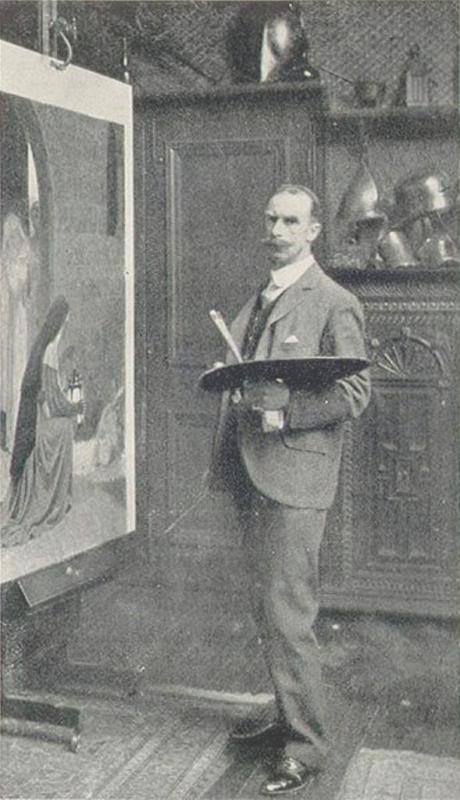 Biografia y Obras de los Pintores de la Hermandad Prerrafaelita - I - Página 33 1edmund-blair-leighton-blair-leighton-studio-big-copia