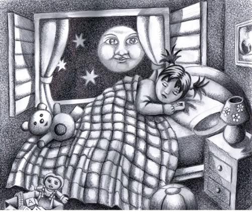 EL HILO DE LOS AMIGUETES XII - Página 2 Nina-dormida-b-n