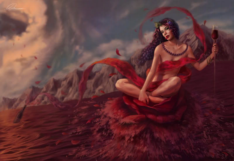 The Olympians Goddess_of_Wine_by_uriska
