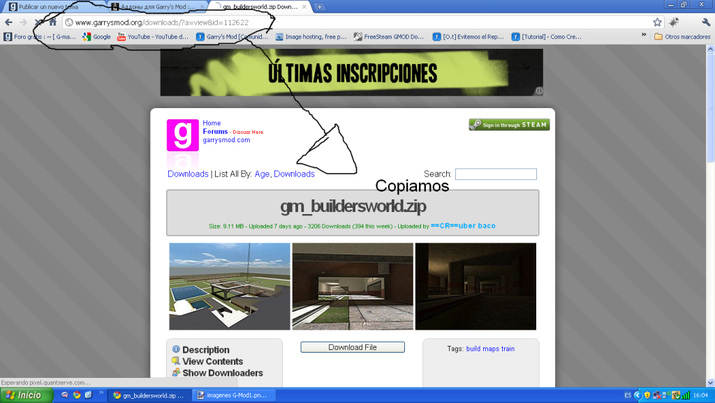 Nueva pagina para descargar addons ImagenesG-Mod3