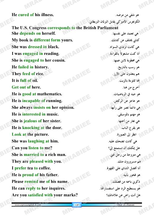 دورة متكاملة لقواعد اللغة الانجليزية للمبتدئين (الشرح باللغة العربية +امثلة+ اسلوب سهل وواضح) 13