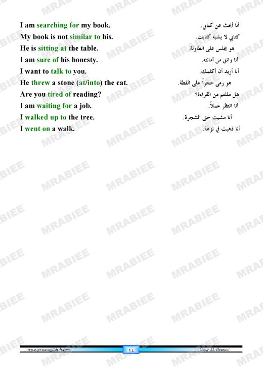 دورة متكاملة لقواعد اللغة الانجليزية للمبتدئين (الشرح باللغة العربية +امثلة+ اسلوب سهل وواضح) 14