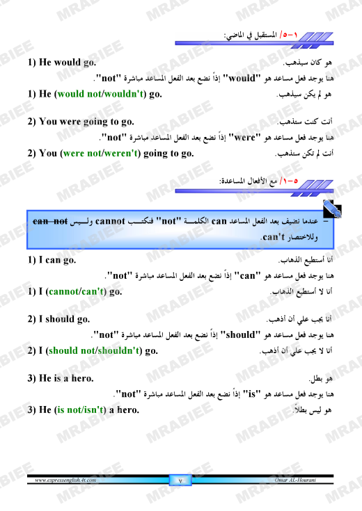 دورة متكاملة لقواعد اللغة الانجليزية للمبتدئين (الشرح باللغة العربية +امثلة+ اسلوب سهل وواضح) 7