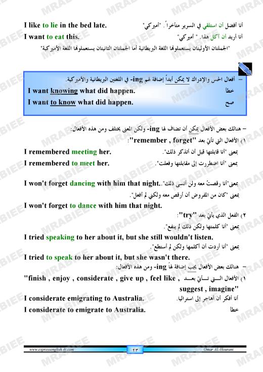 دورة متكاملة لقواعد اللغة الانجليزية للمبتدئين (الشرح باللغة العربية +امثلة+ اسلوب سهل وواضح) 23