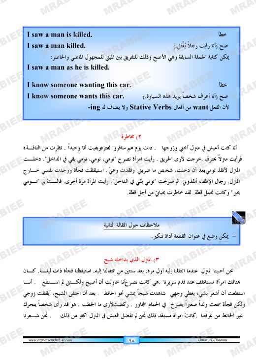 دورة متكاملة لقواعد اللغة الانجليزية للمبتدئين (الشرح باللغة العربية +امثلة+ اسلوب سهل وواضح) 28