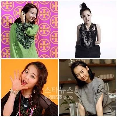 [6.7.2010] [NEWS] Sulli, Sandara Park, Jo Yeo Jung and Shin Min Ah, 'Baby face of the Golden Age' Untitled