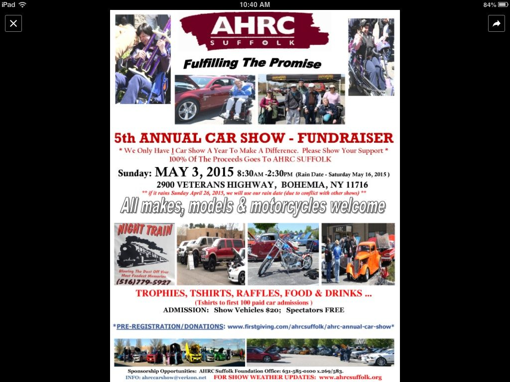 AHRC Carshow Sunday 5/3/15.     NEED YOUR SUPPORT Image.jpg1
