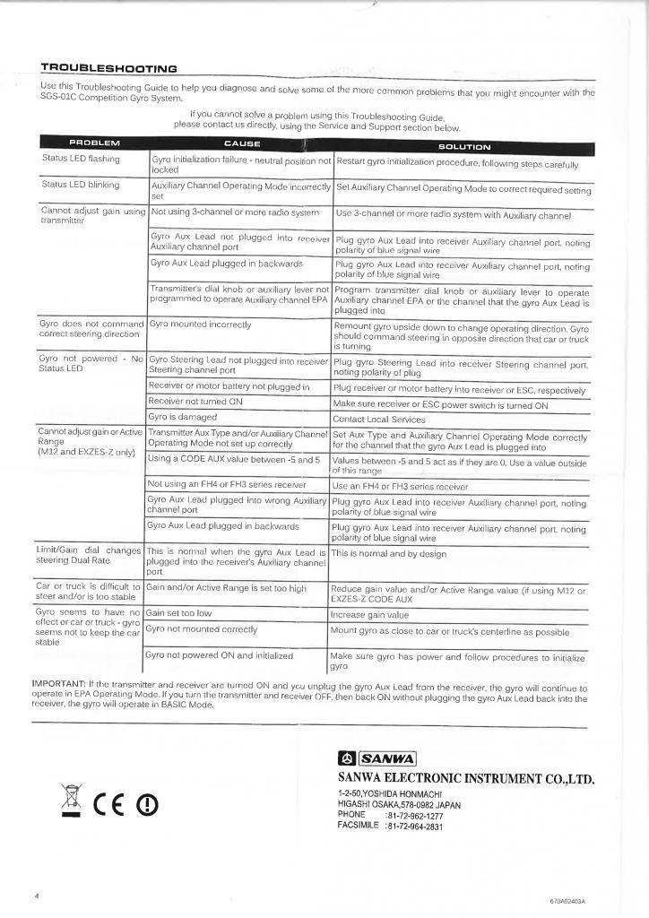 Sanwa Gyro sgs-01c english manual 3451_001