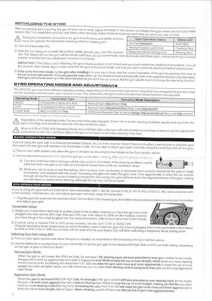 Sanwa Gyro sgs-01c english manual 3452_001