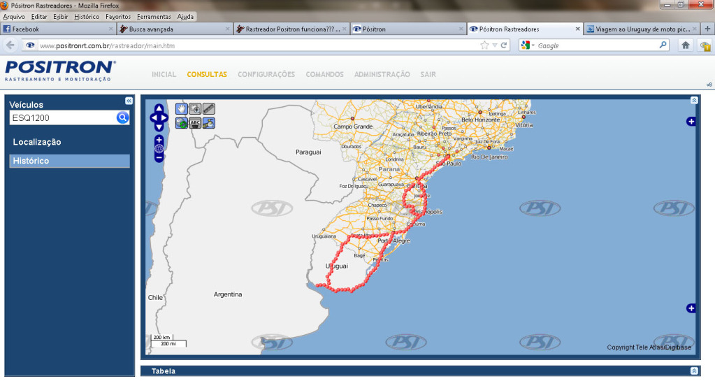 Rastreador Positron funciona??? - Página 2 RastreamentoPositron-Uruguai