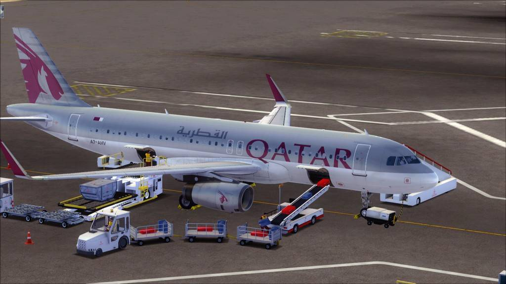 Qatar Airways A320-> Doha-Dubai OTBD-OMDB1