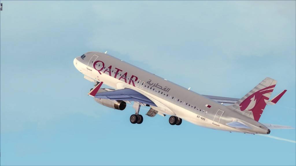 Qatar Airways A320-> Doha-Dubai OTBD-OMDB10